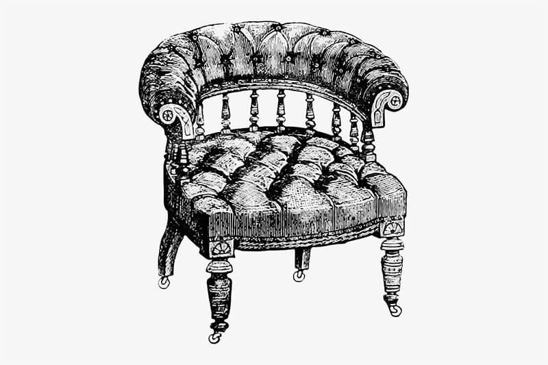 Необычное антикварное кресло